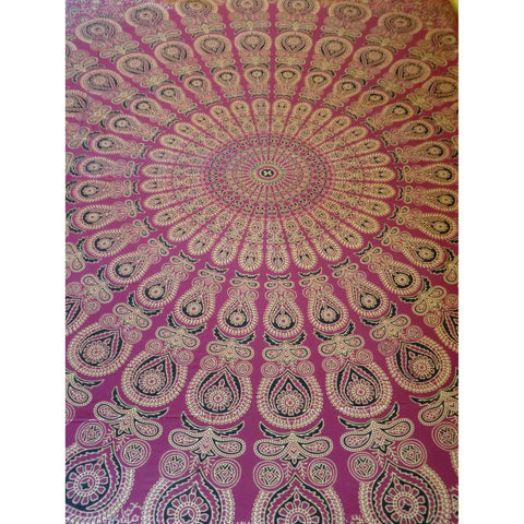 Aubergine Mandala Throw
