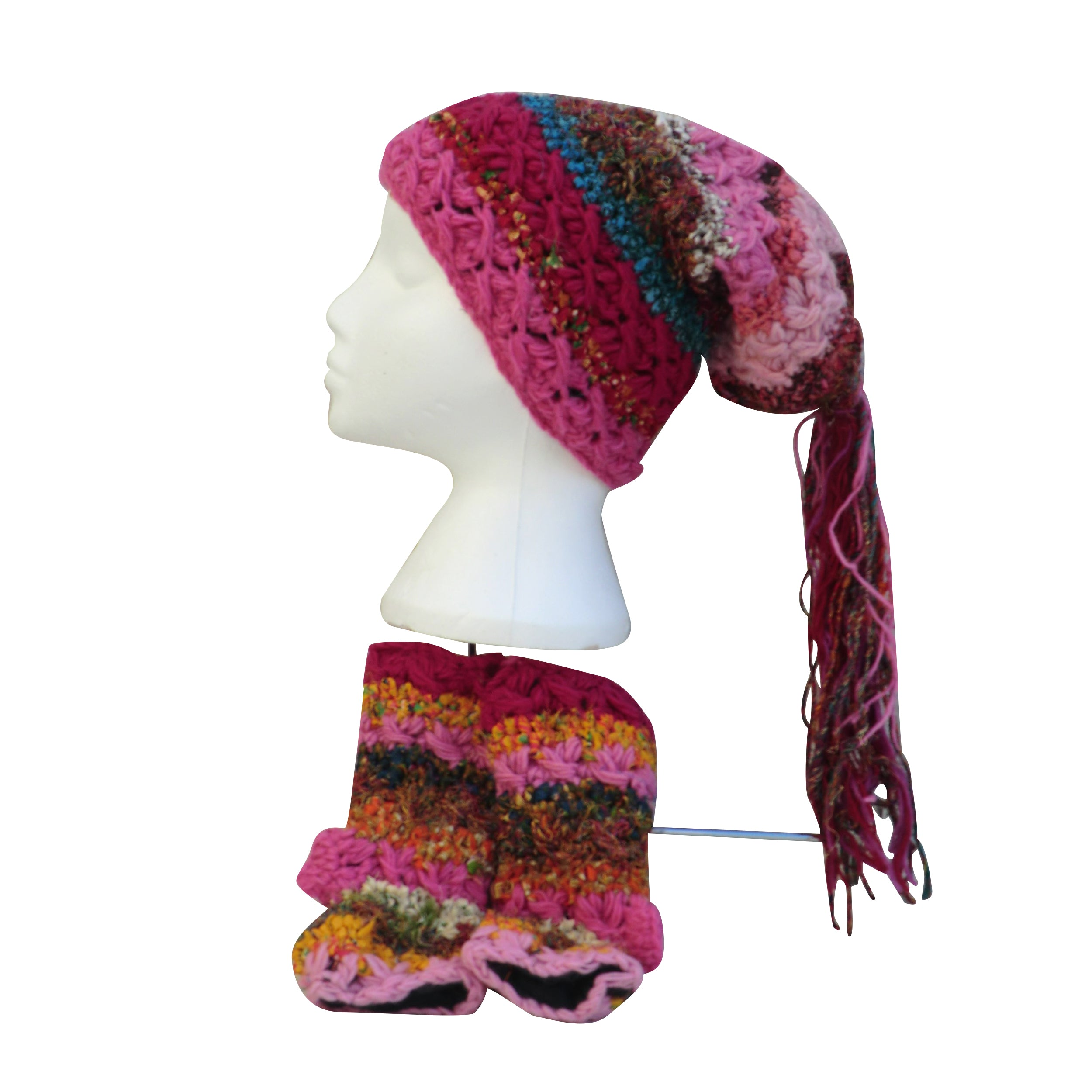 Dreadlock Hat and Fingerless Glove Sets - Matico