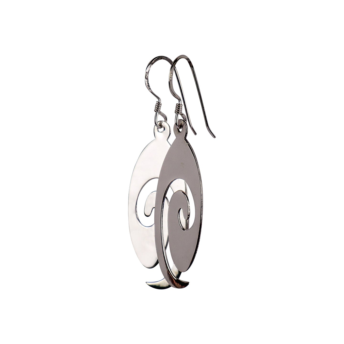 Sterling Silver solid Swirl Earrings - Matico