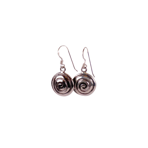 Sterling Silver Spiral Earrings - Matico