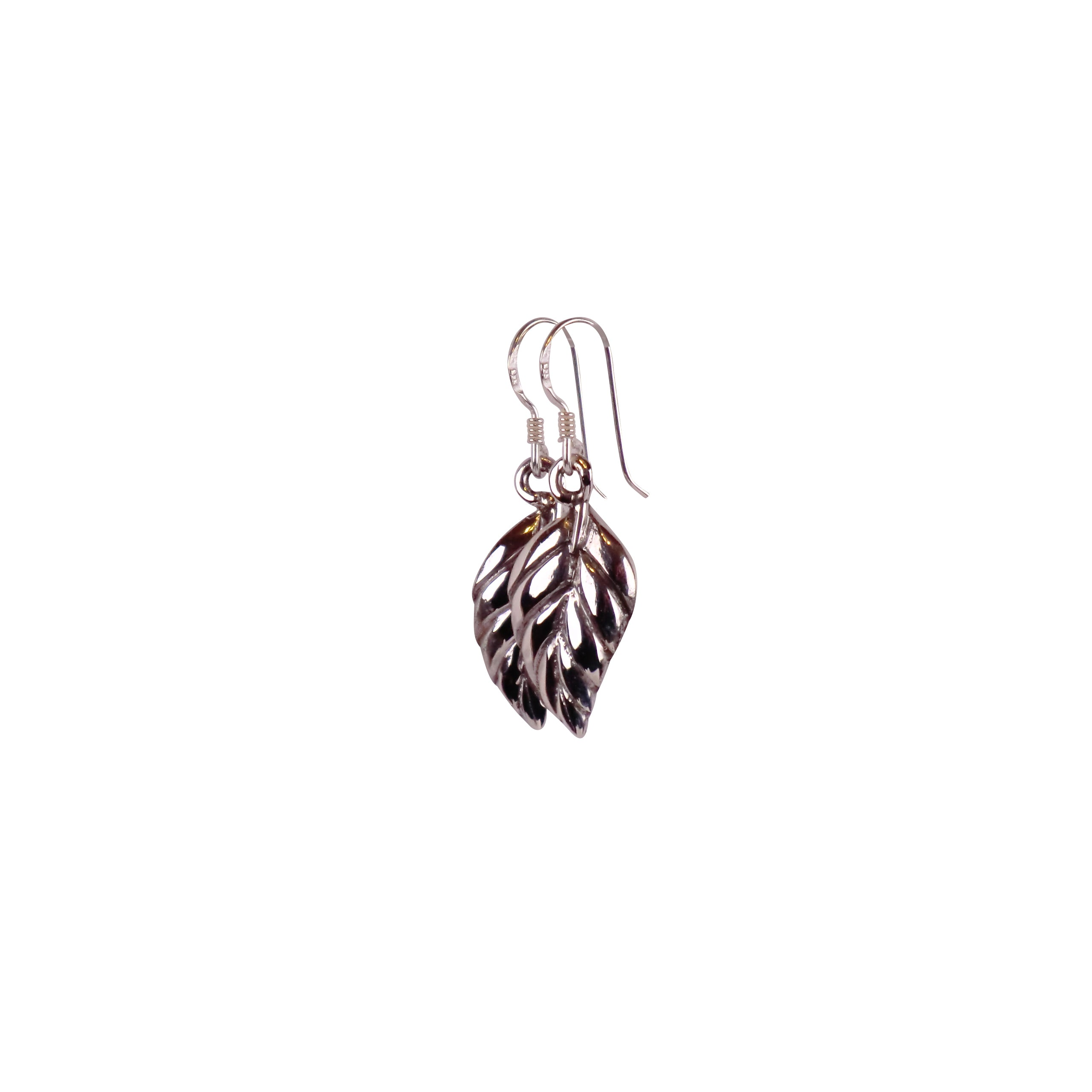 Sterling Silver Leaf Earrings - Matico