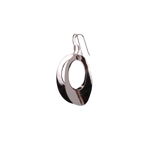Sterling Silver Oval Earrings - Matico