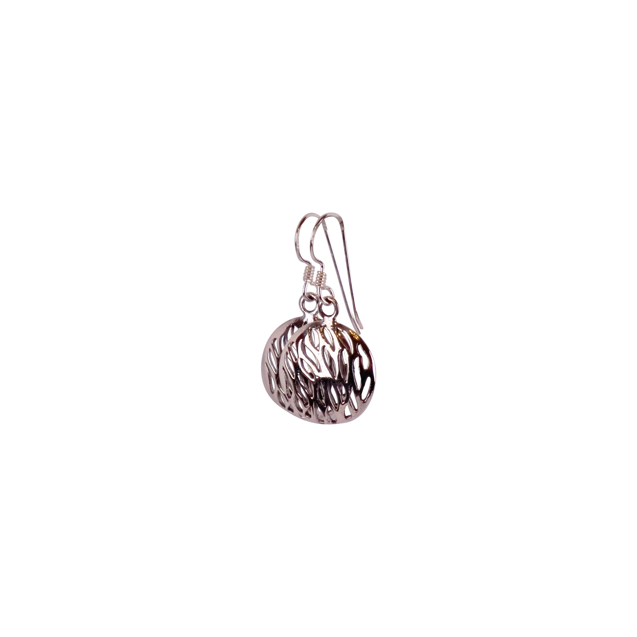 Sterling Silver round Earrings - Matico