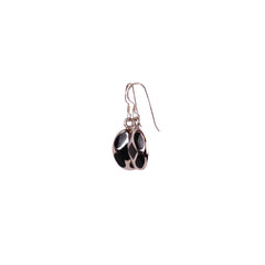 Silver Earrings with Howlite Stone - Matico