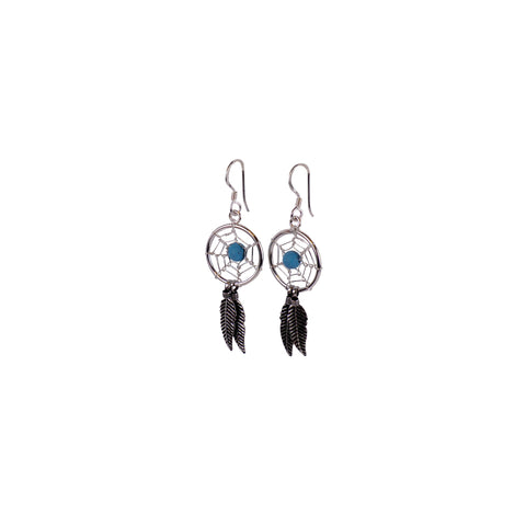 Silver Dreamcatcher Earrings - Matico