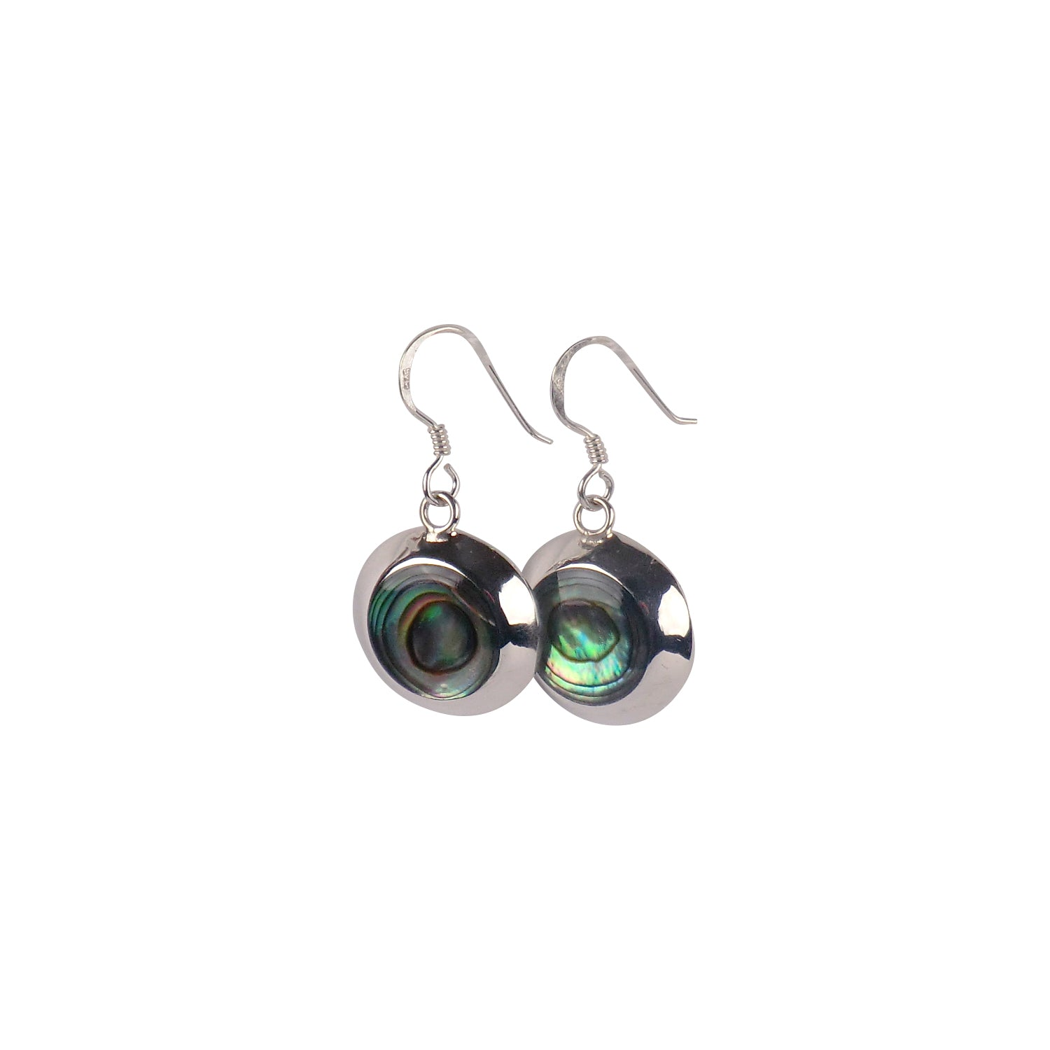 Circular Silver Earrings - Matico