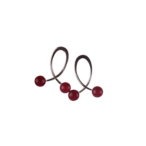 Sterling Silver Swirl Earrings - Matico
