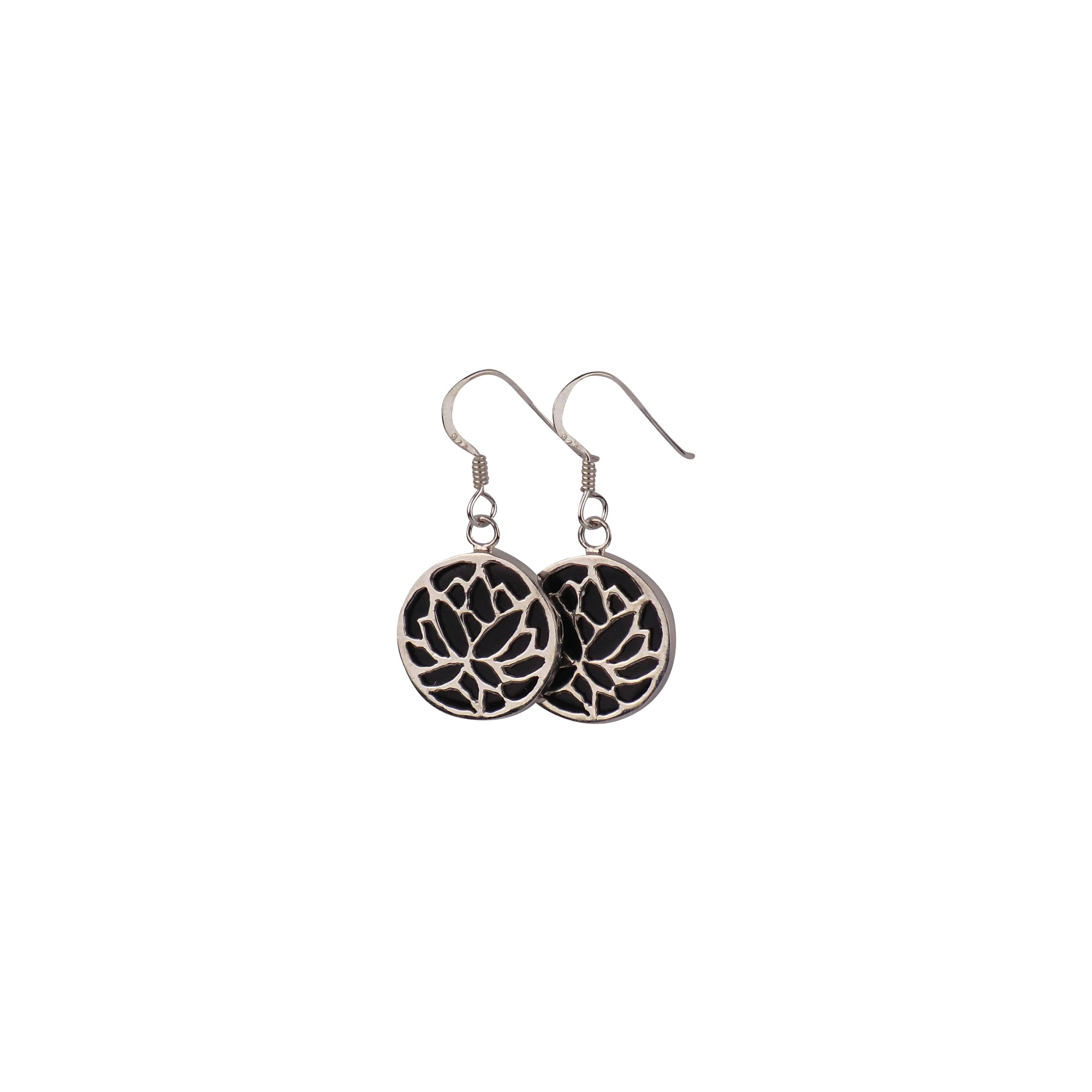 Sterling Silver Lotus Flower Earrings - Matico