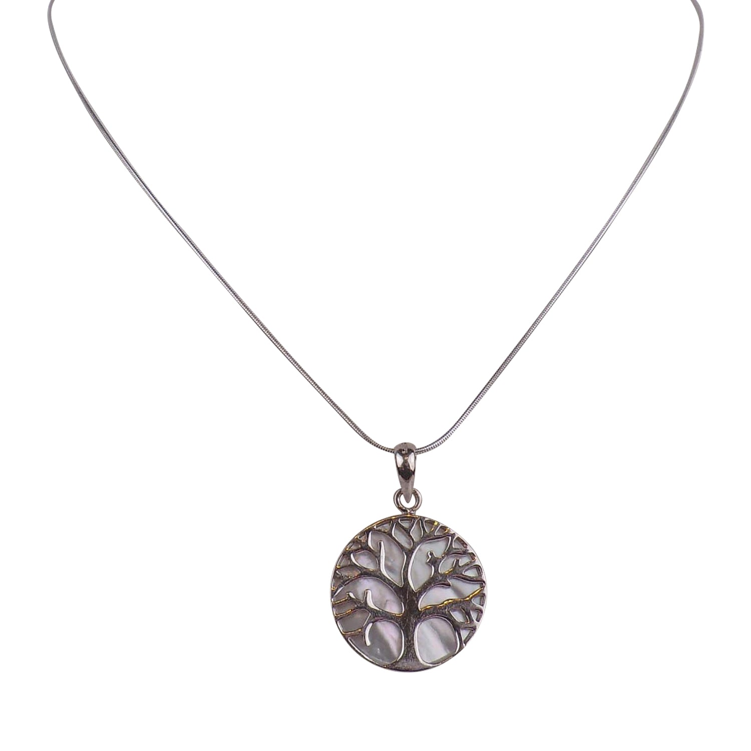 Sterling Silver Tree of Life Pendant - 2.5cm - Matico