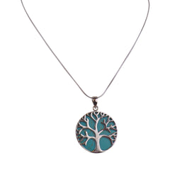 Sterling Silver Tree of Life Pendant - Matico