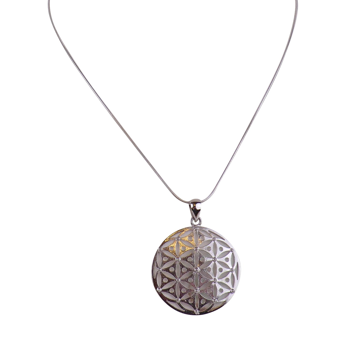 Sterling Silver Flower of Life Pendant - Matico