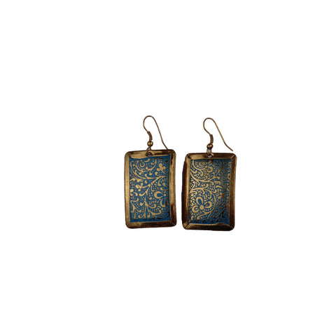Gold and Turquoise Earrings - Matico