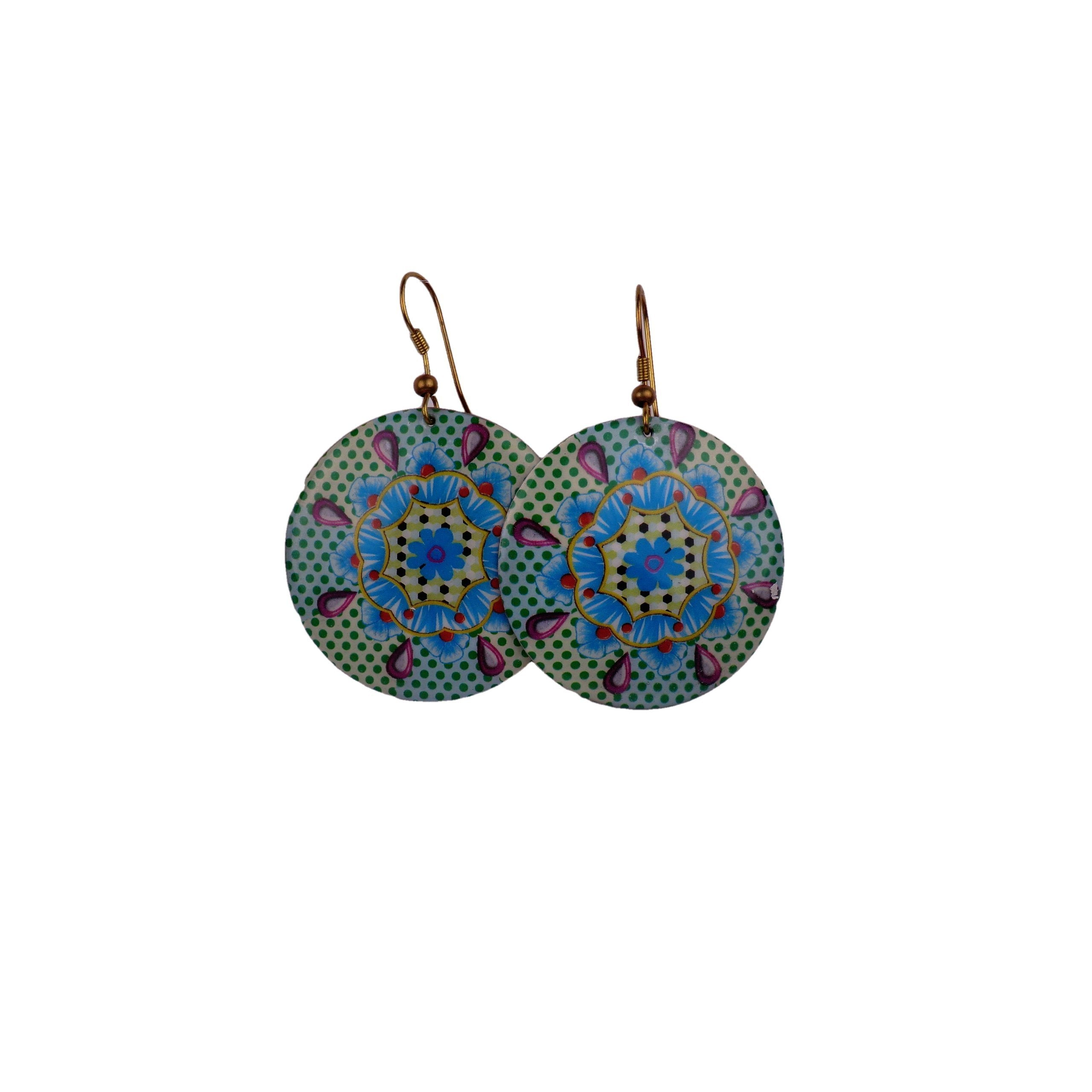 Turquoise and Green Earrings - Matico