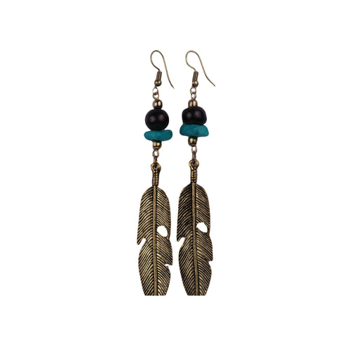 Feather Earrings - Matico