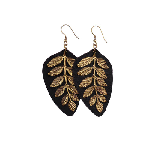 Leaf Earrings - Matico