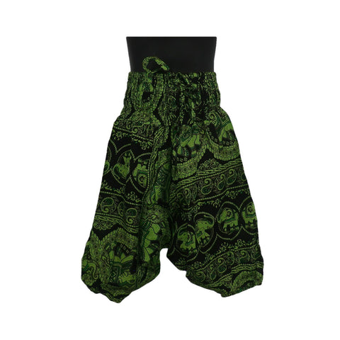 Green Harem Pants 3 - 5yrs - Matico