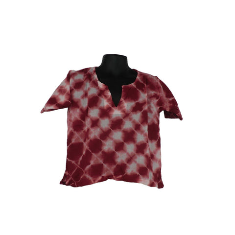Red Cotton Tops 2 - 3yrs - Matico