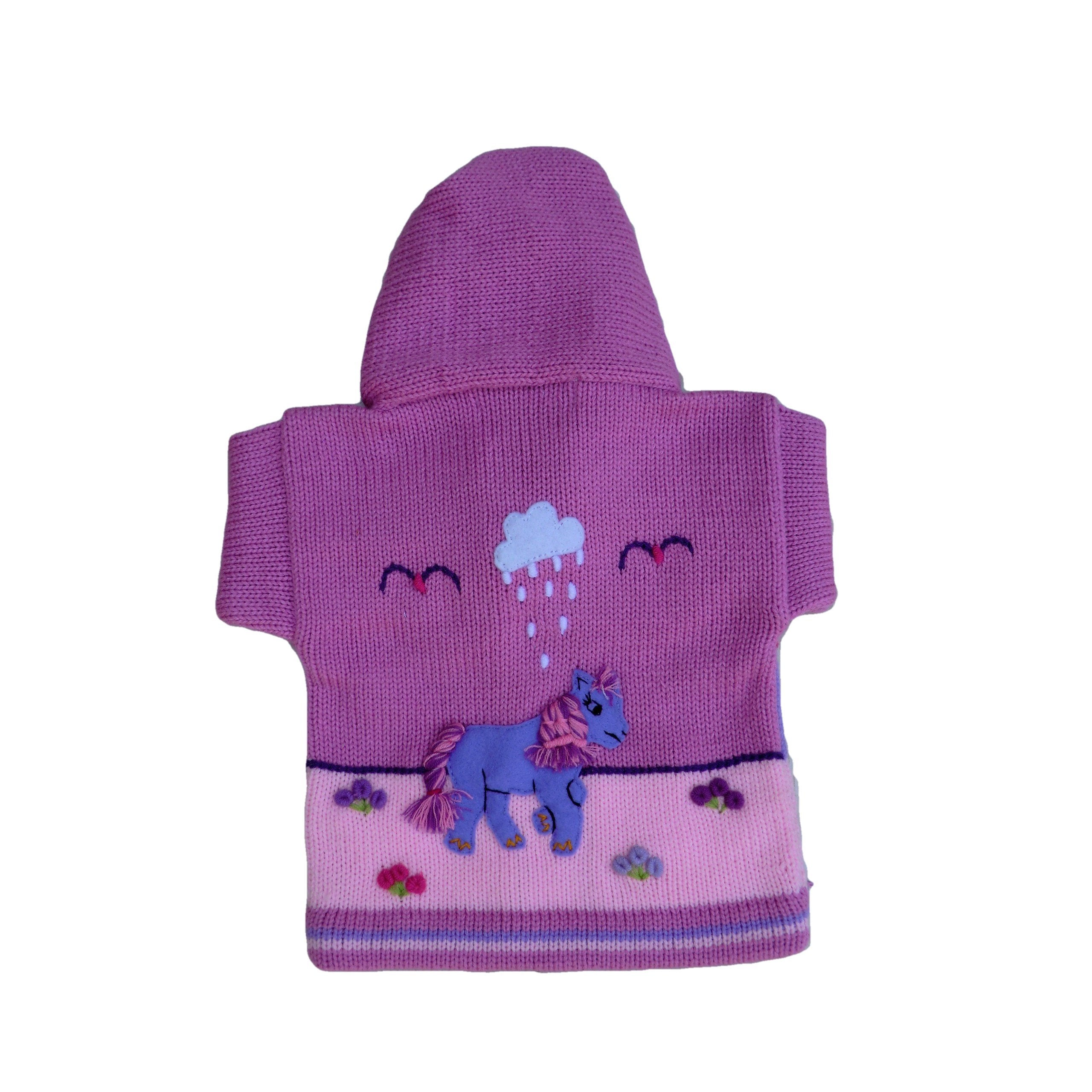 Children's Pink Cardigan - Pony - Matico