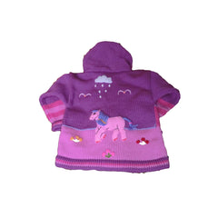 Children's Purple Cardigan - Pony - Matico
