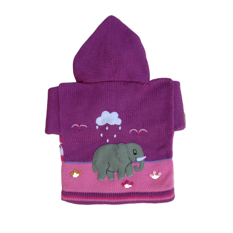 Children's Purple Cardigan - Safari - Matico