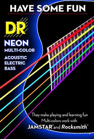 DR luminous & hi def neon coloured guitar strings