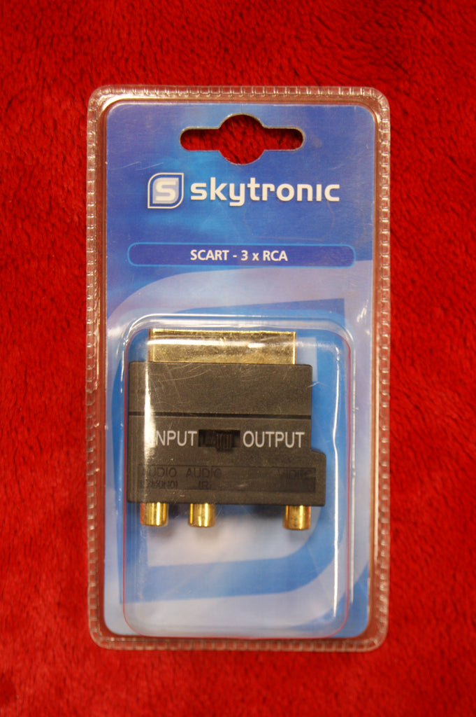 Skytronic scart to 3 RCA phono sockets gold plated