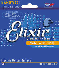 Elixir Nanoweb 12052 light 10-46 gauge electric guitar strings (2 PACKS)
