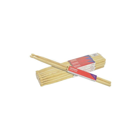 Chord Hickory drum sticks 7A wood tipped (12 PAIRS)