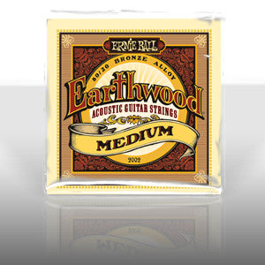 Ernie Ball 2002 Earthwood medium acoustic guitar strings 13-56