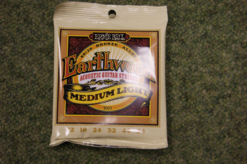 Ernie Ball 2003 Earthwood medium light acoustic guitar strings 12-54
