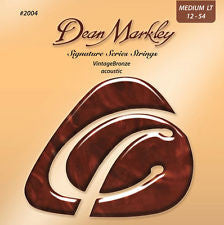 Dean Markley signature series 2004 vintage bronze acoustic guitar strings 12-54 gauge (2 PACKS)