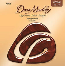 Dean Markley signature series 2006 vintage bronze 13-56 medium acoustic guitar strings  (2 PACKS)