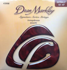 Dean Markley signature series 2008 vintage bronze acoustic guitar strings 10-47