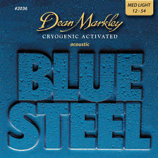 Dean Markley 2036 Blue Steel phosphor bronze acoustic strings 12-54 (2 PACKS)