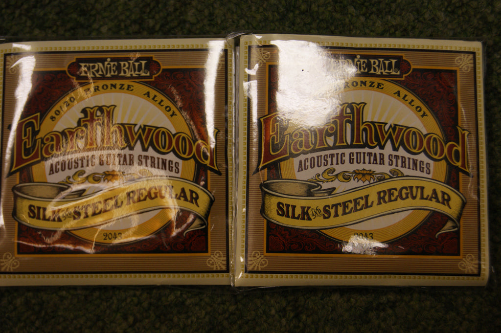 Ernie Ball 2043 Earthwood silk & steel soft guitar strings 13-56 (2 PACKS)