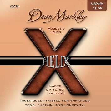 Dean Markley Helix 2088 acoustic 13-56 medium bronze guitar strings (3 PACKS)
