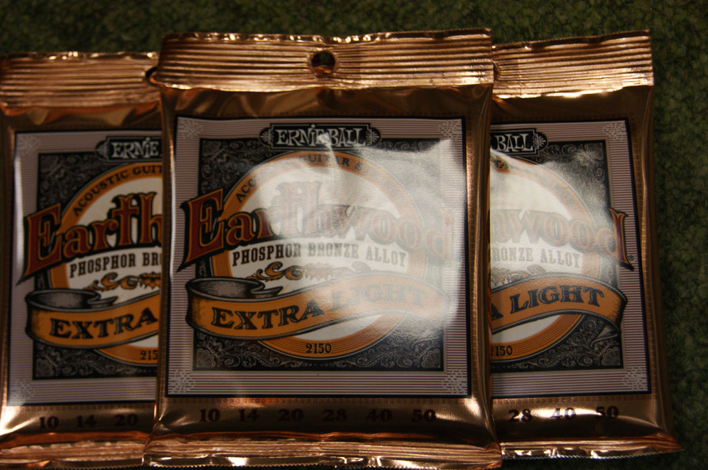 Ernie Ball 2151 Earthwood phosphor bronze guitar strings 10-52 (3 PACKS)