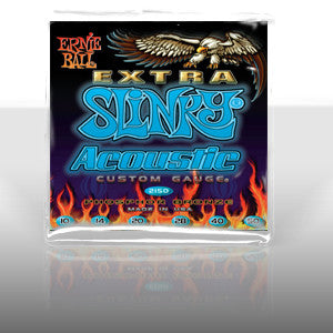 Ernie Ball 2150 Extra Slinky acoustic guitar strings 10-50