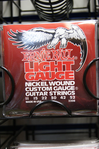 Ernie Ball 2208 light 11-52 custom gauge nickel wound strings (2 PACKS)