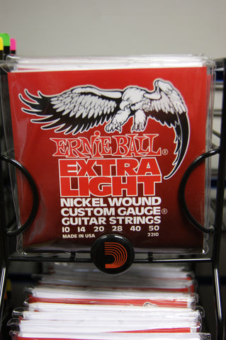 Ernie Ball 2210 extra light 10-50 custom gauge nickel wound strings (2 PACKS)