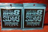 Ernie Ball 2238 Extra Slinky 8-38 reinforced plain nickel custom gauge strings (2 PACKS)