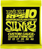 Ernie Ball 2240 Regular Slinky 10-46 reinforced plain nickel custom gauge strings (2 PACKS)