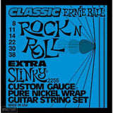 Ernie Ball 2255 classic rock'n'roll extra slinky pure nickel wrap  electric guitar strings 8-38 (2 PACKS)