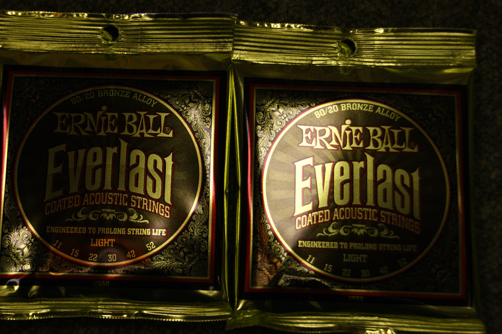 Ernie Ball 2558 Everlast light 11-52 acoustic guitar strings (2 PACKS)