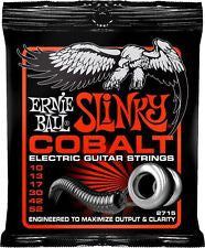 Ernie Ball 2715 Skinny Top Heavy Bottom Cobalt Slinky electric guitar strings 10-52 (3 PACKS)