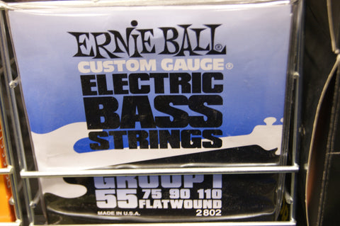 Ernie Ball 2802 flatwound electric bass guitar strings 55-110