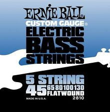 Ernie Ball 2810 flatwound electric bass guitar 5 string set 45-130