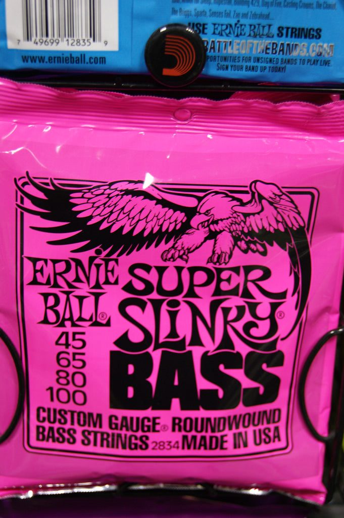 Ernie Ball 2834 super slinky bass guitar strings 45-100