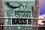 Ernie Ball 2850 super long scale slinky bass 5 guitar strings 45-130