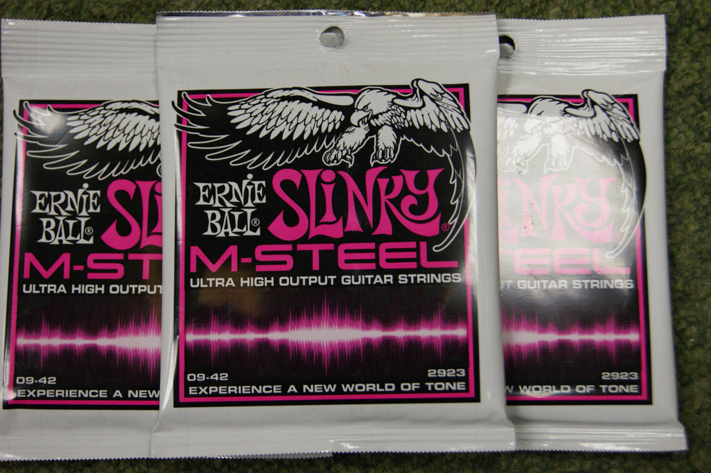 Ernie Ball 2923 M Steel 9-42 super slinky electric guitar strings (3 PACKS)